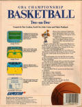 GBA Championship Basketball: Two-on-Two Apple IIgs Back Cover