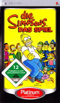 The Simpsons Game PSP Front Cover