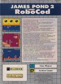 James Pond 2: Codename: RoboCod Game Gear Back Cover