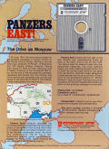 Panzers East! Commodore 64 Back Cover
