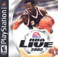 NBA Live 2002 PlayStation Front Cover