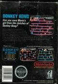 Donkey Kong NES Back Cover