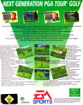 PGA Tour 96 DOS Back Cover