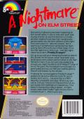 A Nightmare on Elm Street NES Back Cover