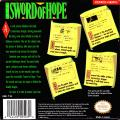 The Sword of Hope Game Boy Back Cover