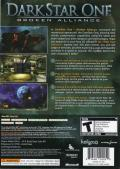 Darkstar One Xbox 360 Back Cover