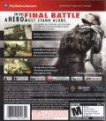 Metal Gear Solid 4: Guns of the Patriots PlayStation 3 Back Cover Trophy support mentioned, but not supported.