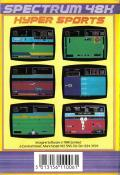 Hyper Sports ZX Spectrum Back Cover
