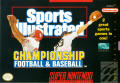 Sports Illustrated Championship Football & Baseball SNES Front Cover