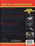 Wing Commander II: Vengeance of the Kilrathi - Special Operations 1 DOS Back Cover