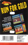 Run for Gold Commodore 64 Back Cover