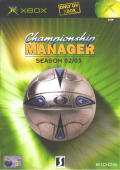 Championship Manager: Season 02/03 Xbox Front Cover