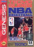 Tecmo Super NBA Basketball Genesis Front Cover