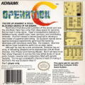 Operation C Game Boy Back Cover