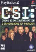 CSI: Crime Scene Investigation - 3 Dimensions of Murder PlayStation 2 Front Cover