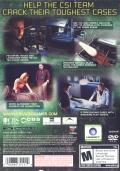 CSI: Crime Scene Investigation - 3 Dimensions of Murder PlayStation 2 Back Cover