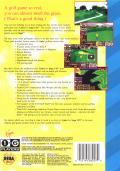 Links: The Challenge of Golf SEGA CD Back Cover