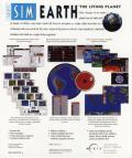 SimEarth: The Living Planet Windows 3.x Back Cover