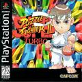 Super Puzzle Fighter II Turbo PlayStation Front Cover US Cover / Manual