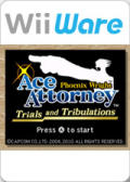 Phoenix Wright: Ace Attorney - Trials and Tribulations Wii Front Cover