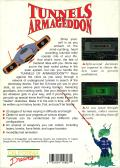 Tunnels of Armageddon DOS Back Cover