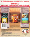 Sinbad and the Throne of the Falcon DOS Back Cover