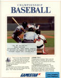 Championship Baseball DOS Front Cover