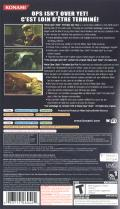 Metal Gear Solid: Portable Ops Plus PSP Back Cover