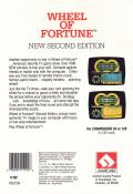 Wheel of Fortune: New Second Edition Commodore 64 Back Cover