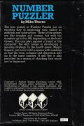 Number Puzzler BBC Micro Back Cover