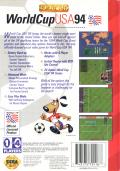 World Cup USA 94 Genesis Back Cover