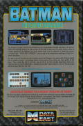 Batman: The Caped Crusader Commodore 64 Back Cover