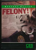 Mystery Master: Felony! Apple II Front Cover