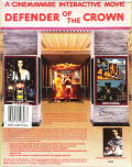 Defender of the Crown PC Booter Back Cover