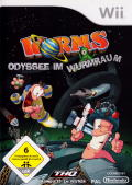 Worms: A Space Oddity Wii Front Cover