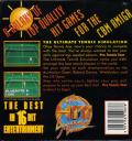 Jimmy Connors Pro Tennis Tour Amiga Back Cover