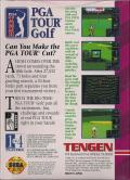PGA Tour Golf Game Gear Back Cover