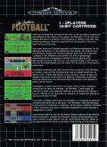 Joe Montana Football Genesis Back Cover