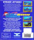 Carrier Command Commodore 64 Back Cover