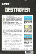 Destroyer PC Booter Back Cover