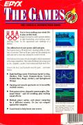 The Games: Summer Edition DOS Back Cover
