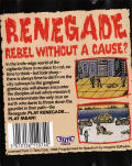 Renegade ZX Spectrum Back Cover