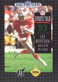 NFL Sports Talk Football '93 Starring Joe Montana Genesis Front Cover