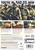 Battlefield: Bad Company Xbox 360 Back Cover