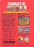 Conflict in Vietnam PC Booter Back Cover