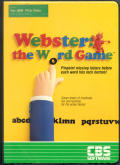 Webster: The Word Game DOS Front Cover