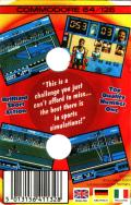 Daley Thompson's Olympic Challenge Commodore 64 Back Cover