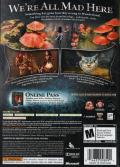 Alice: Madness Returns Xbox 360 Back Cover