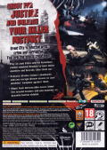 Dead to Rights: Retribution Xbox 360 Back Cover