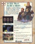Hero's Quest: So You Want To Be A Hero DOS Back Cover
